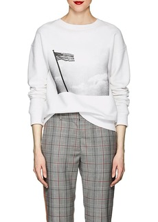 "CALVIN KLEIN 205W39NYC Women's ""American Flag"" Cotton Terry Sweatshirt"