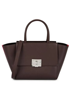 CALVIN KLEIN 205W39NYC Women's Bonnie Leather Shoulder Tote Bag - Bordeaux