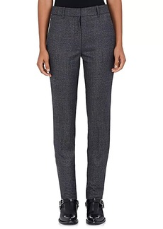 CALVIN KLEIN 205W39NYC Women's Checked Wool Flat-Front Trousers