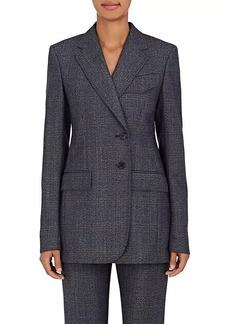 CALVIN KLEIN 205W39NYC Women's Checked Wool Two-Button Blazer