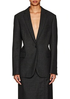 CALVIN KLEIN 205W39NYC Women's Checked Worsted Wool Blazer