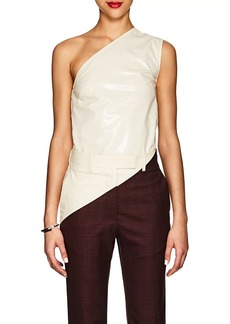 CALVIN KLEIN 205W39NYC Women's Coated Cotton-Blend One-Shoulder Top