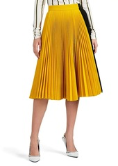 CALVIN KLEIN 205W39NYC Women's Colorblocked Twill Pleated Skirt