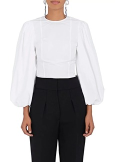 CALVIN KLEIN 205W39NYC Women's Cotton Poplin Puff-Sleeve Blouse