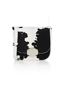 CALVIN KLEIN 205W39NYC Women's Cow Hair Saddle Bag-Blk, White