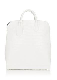 CALVIN KLEIN 205W39NYC Women's Crocodile Shopper Tote Bag - White