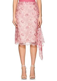 CALVIN KLEIN 205W39NYC Women's Floral Lace Draped Wrap Skirt