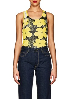 "CALVIN KLEIN 205W39NYC Women's ""Flowers"" Rib-Knit Cotton Tank"