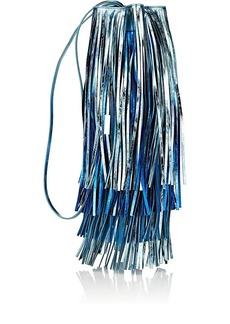 CALVIN KLEIN 205W39NYC Women's Fringed Leather Bucket Bag - Blue