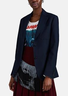CALVIN KLEIN 205W39NYC Women's Gabardine Two-Button Oversized Blazer