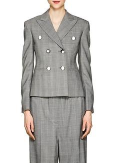 CALVIN KLEIN 205W39NYC Women's Glen Plaid Wool Crop Blazer