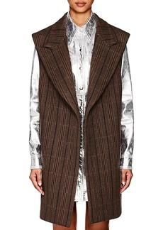 CALVIN KLEIN 205W39NYC Women's Herringbone Wool-Silk Oversized Vest