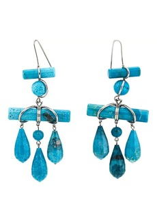 CALVIN KLEIN 205W39NYC Women's Imitation-Turquoise Drop Earrings - Silver