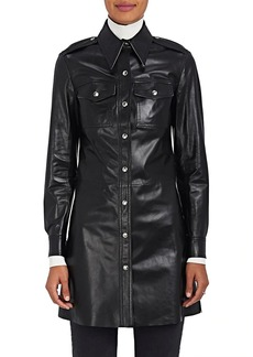 CALVIN KLEIN 205W39NYC Women's Leather Button-Front Tunic