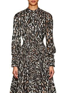 CALVIN KLEIN 205W39NYC Women's Leopard-Print Silk Blouse