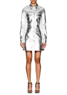 CALVIN KLEIN 205W39NYC Women's Metallic Leather A-Line Shirtdress