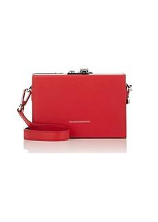 CALVIN KLEIN 205W39NYC Women's Mini Leather Box Bag - Red