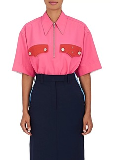 CALVIN KLEIN 205W39NYC Women's Policeman Collared Piqué Shirt