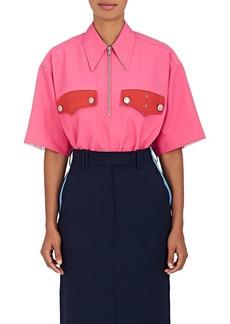 CALVIN KLEIN 205W39NYC Women's Policeman Collared Piqué Shirt