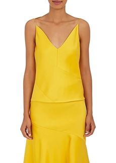 CALVIN KLEIN 205W39NYC Women's Silk-Wool Sleeveless Blouse