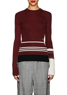 CALVIN KLEIN 205W39NYC Women's Striped Mixed-Knit Sweater