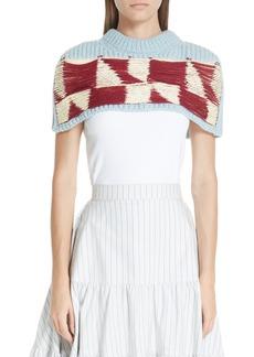 CALVIN KLEIN 205W39NYC Wool Blend Quilt Jacquard Shoulder Warmer