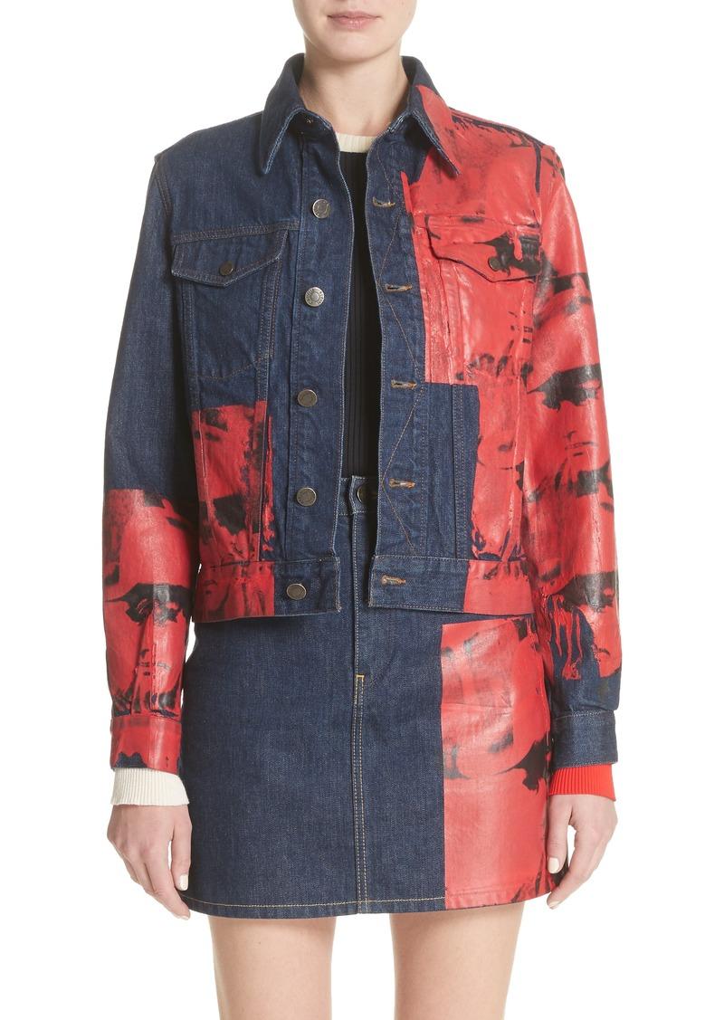 sehr günstig Schatz als seltenes Gut Mode-Design Calvin Klein CALVIN KLEIN 205W39NYC x Andy Warhol Foundation Dennis Hopper  Denim Jacket | Outerwear