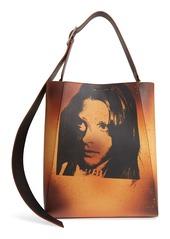 CALVIN KLEIN 205W39NYC x Andy Warhol Foundation Sandra Brant Calfskin Leather Bucket Bag