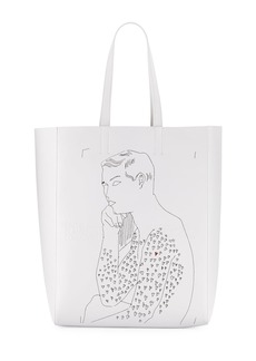 CALVIN KLEIN 205W39NYC x Andy Warhol Men's Resting Boy Leather Tote Bag