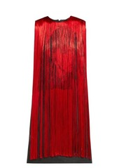 CALVIN KLEIN 205W39NYC X Andy Warhol Stephen Sprouse fringed dress