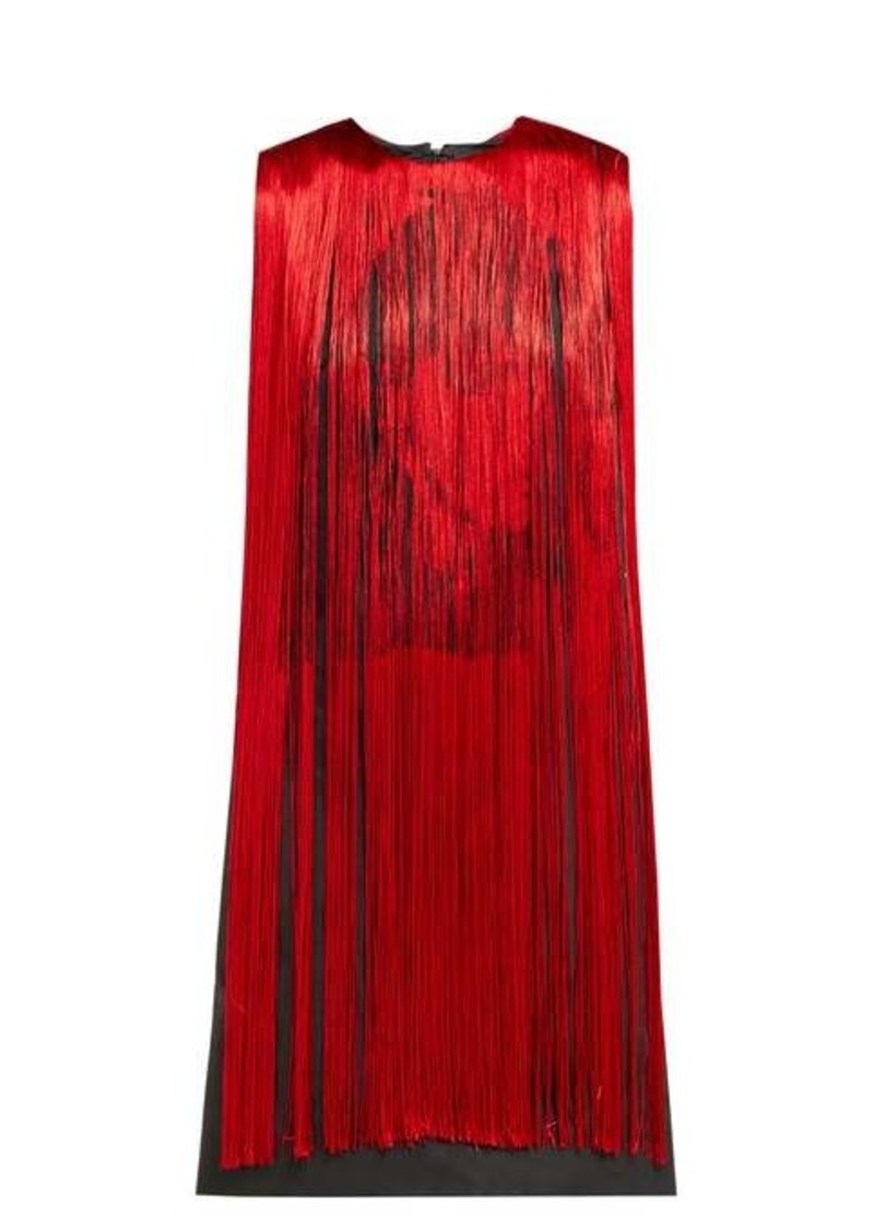 Calvin Klein X Andy Warhol Stephen Sprouse fringed dress