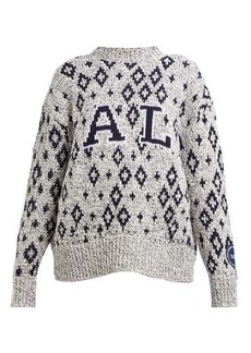 CALVIN KLEIN 205W39NYC Yale-jacquard knitted sweater