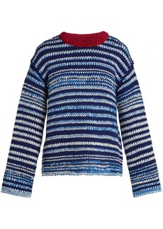CALVIN KLEIN 205W39NYC Zig-zag knit wool sweater