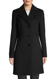 Calvin Klein 3-Button Wool-Blend Coat