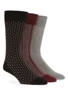 Calvin Klein 3-Pack Cotton Blend Socks
