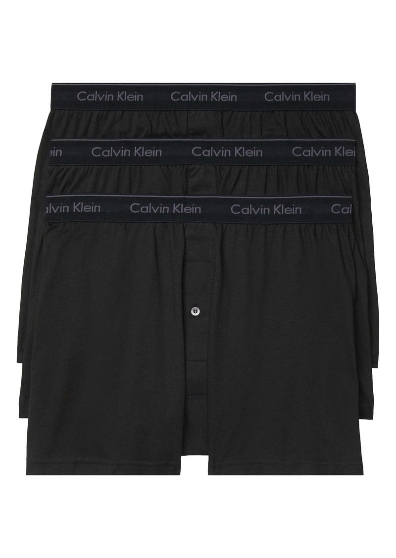 Calvin Klein 3-Pack Knit Cotton Boxers