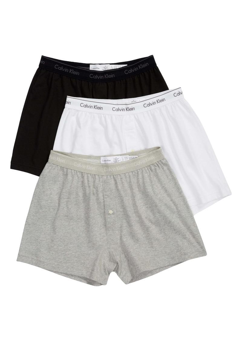 Calvin Klein 3-Pack Knit Cotton Boxers