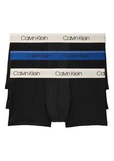 Calvin Klein 3-Pack Low Rise Microfiber Trunks