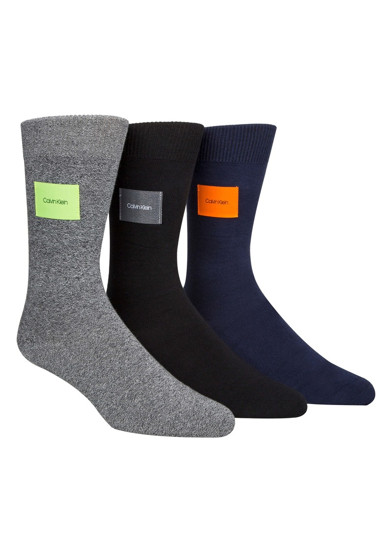 Calvin Klein 3-Pack Patch Socks