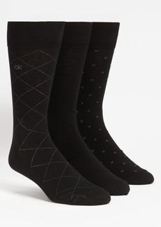 Calvin Klein 3-Pack Patterned Dress Socks
