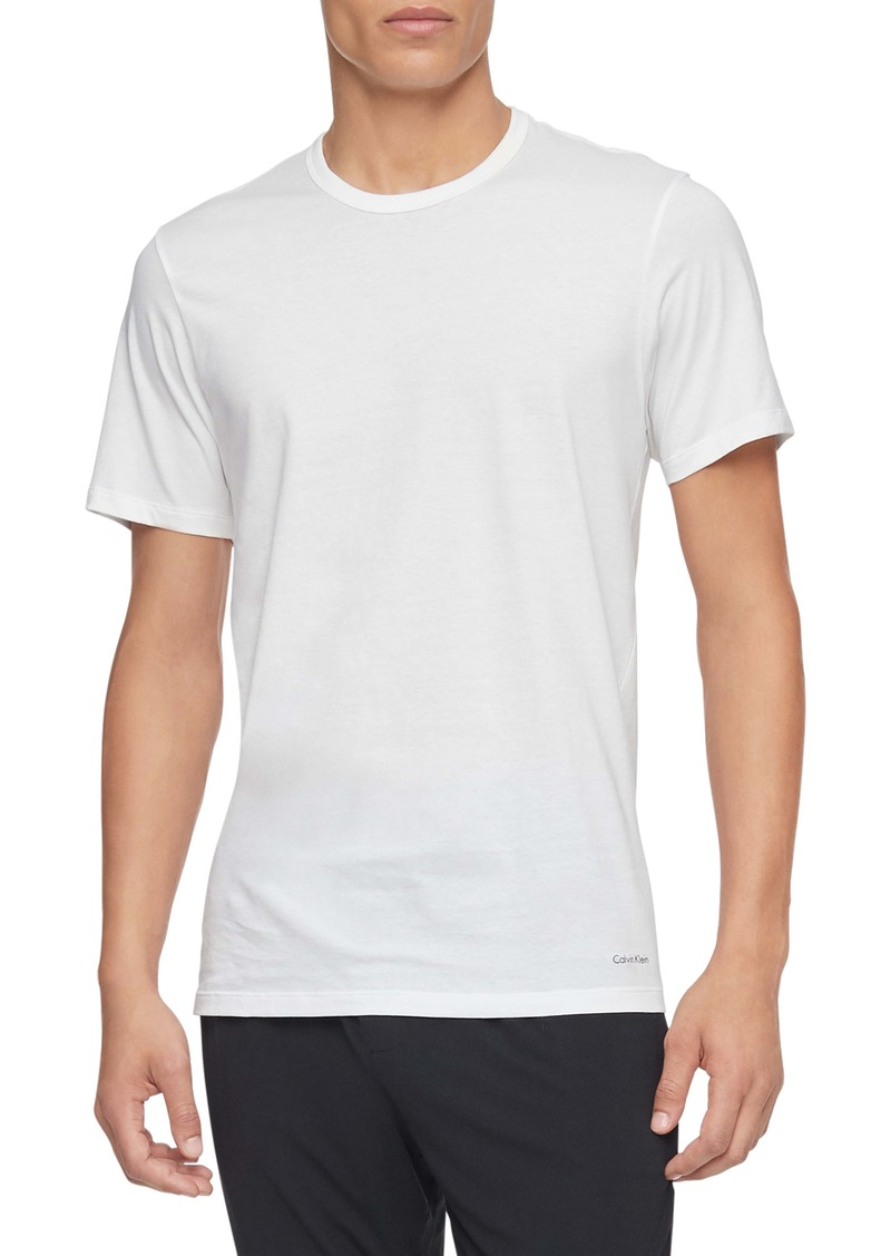 Calvin Klein 3-Pack Slim Fit Cotton Crewneck T-Shirt