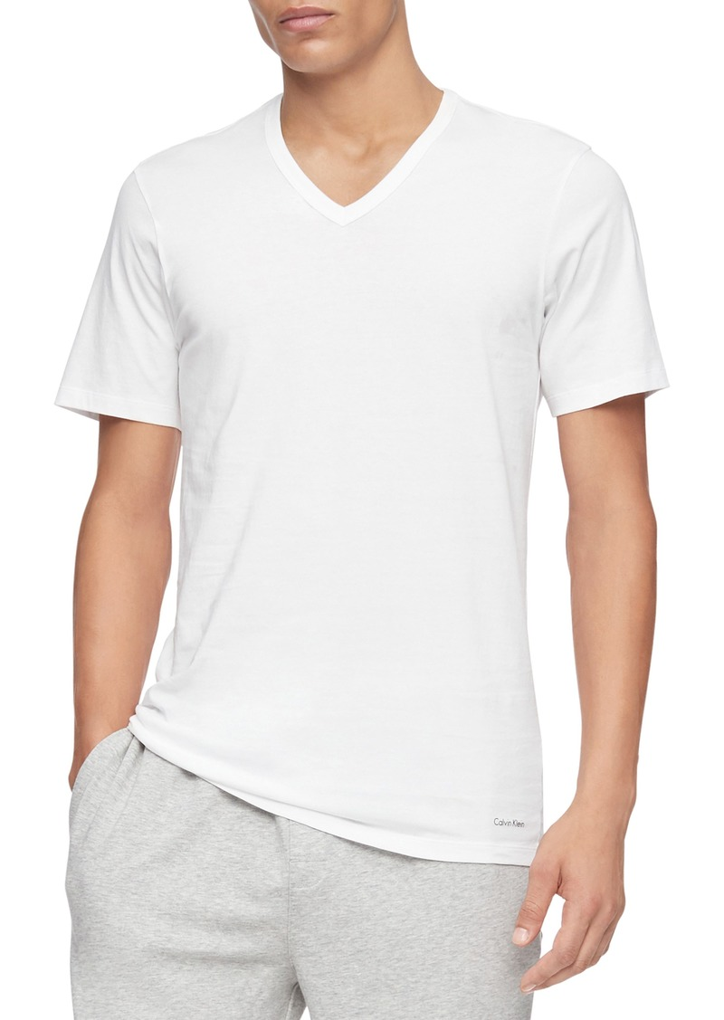 Calvin Klein 3-Pack Slim Fit Cotton V-Neck T-Shirt