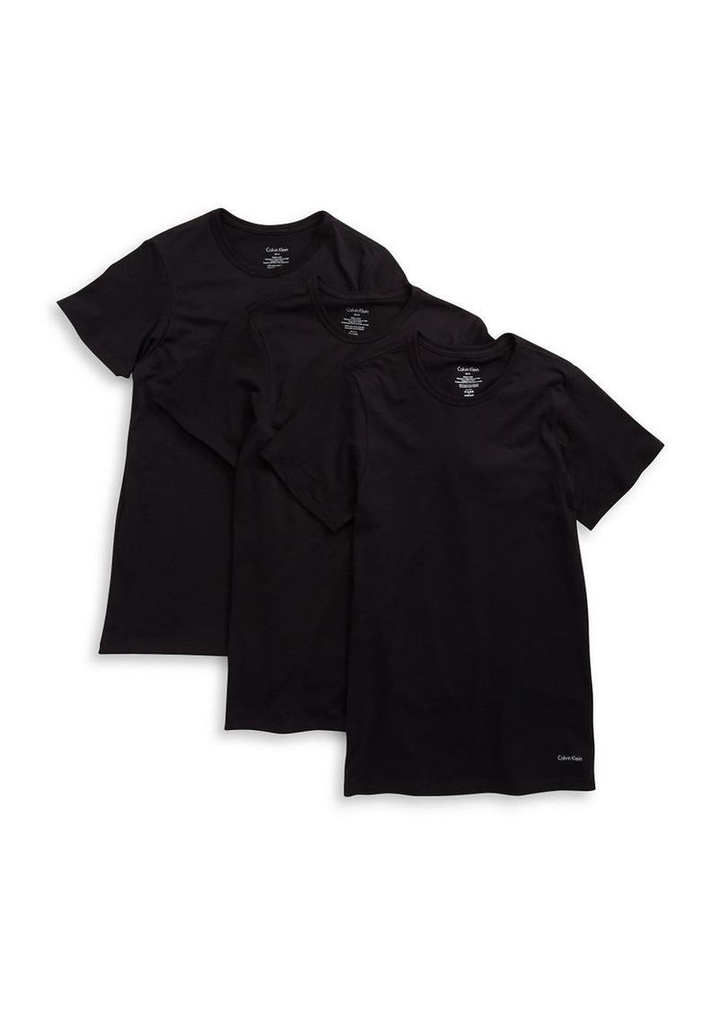 CALVIN KLEIN 3-Pack Slim Fit Crewneck T-Shirts