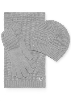 Calvin Klein 3-Pc. Waffle Hat, Scarf & Gloves Gift Set