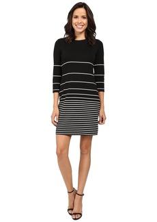 Calvin Klein 3/4 Sleeve Stripe Shift Dress CD6C1589