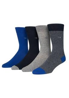Calvin Klein 4-Pair Holiday Crew Socks