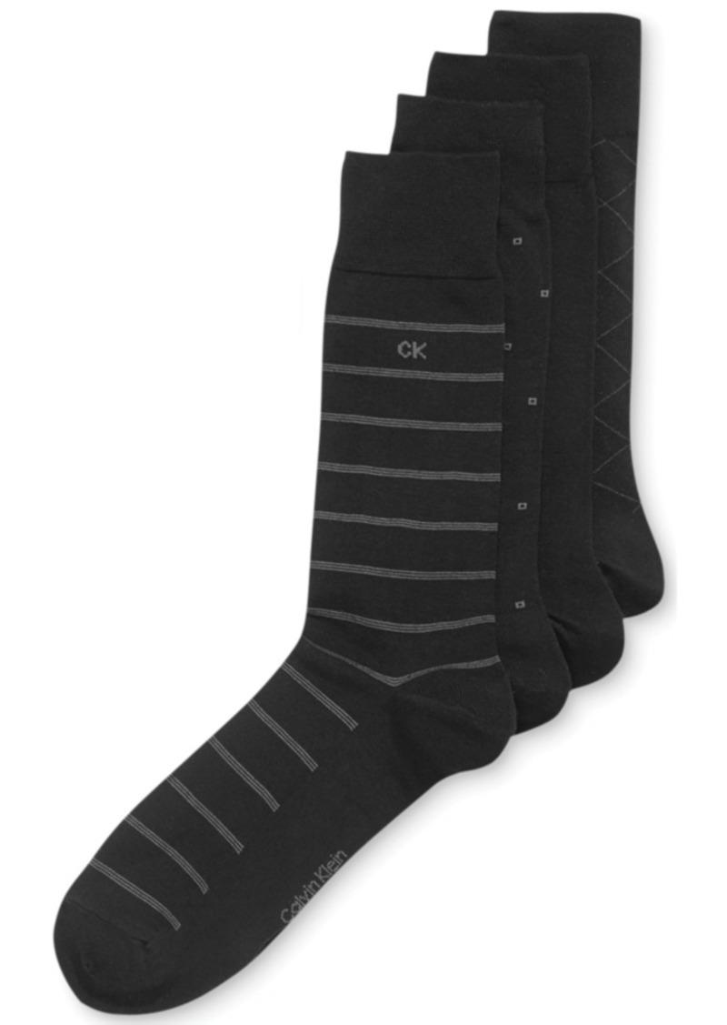 Calvin Klein 4-Pack Patterned Dress Socks