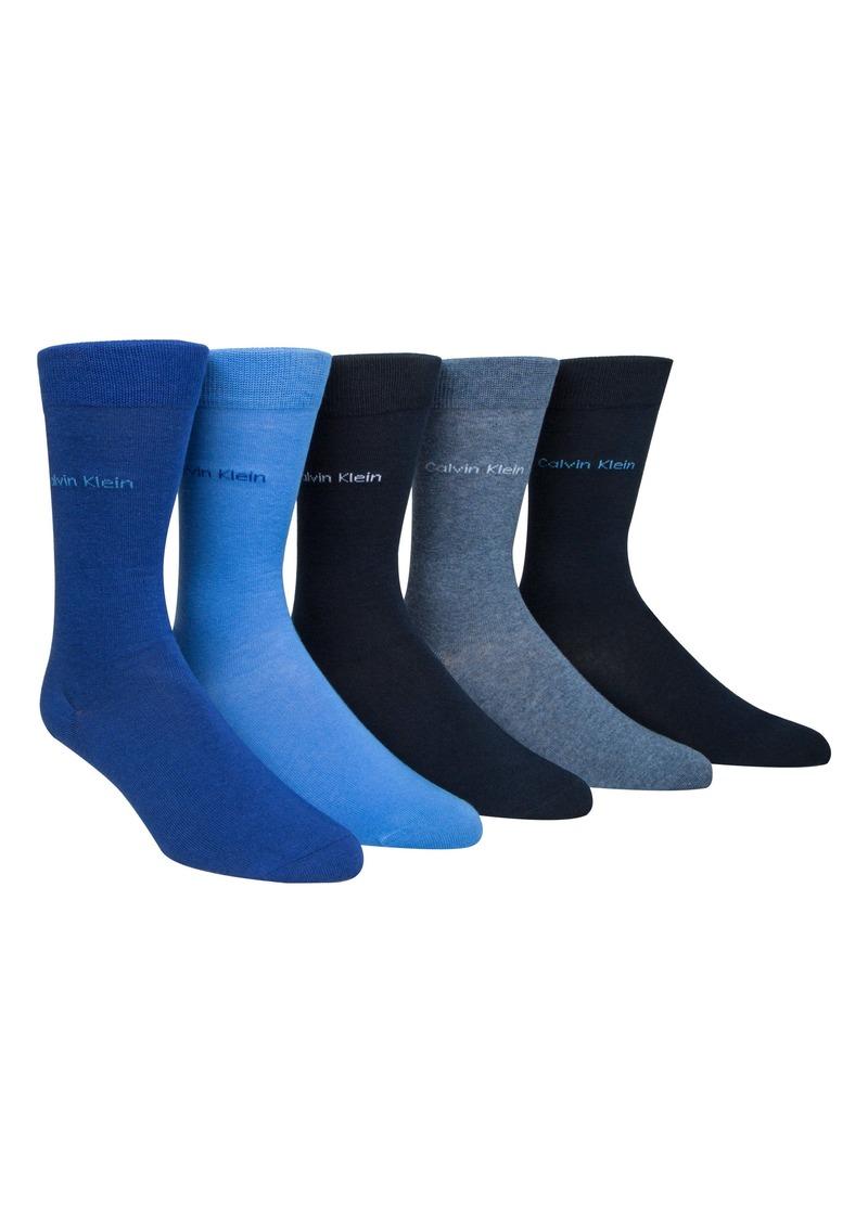 Calvin Klein 5-Pack Solid Socks Gift Set