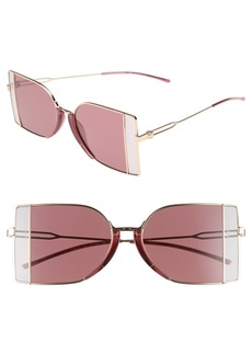 CALVIN KLEIN 205W39NYC 51mm Butterfly Sunglasses
