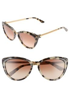 Calvin Klein 56mm Cat Eye Sunglasses